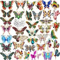 Fashion Crystal Rhinestone Butterfly Insects Brooch Pin Costume Pearl Charms Hot