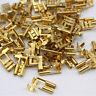 100 Stück Flachsteckhülsen 6,3mm 0,5-1,5 mm² blank unisoliert gewinkelt 90° / E8