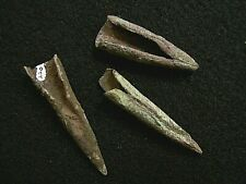 3 AUTHENTIC OLD COPPER CULTURE CONICAL POINTS FROM THE JIM BUSSEY COLLECTION
