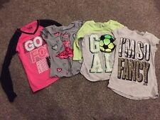 Justice Girls 4 Shirt Lot! Size 10 Sparkly Cute Euc