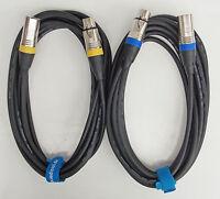 5m Mikrofon Kabel XLR DMX Kabel OFC-Kupfer  Set mit 2 Stück je 5m lang
