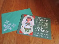 Christmas Card St. Labre School Angel Single Unused Greeting Bible Verse