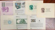 United States BEP B 89-95 Souvenir Cards 1986 Mint