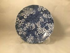 More details for rare vintage b&l b leighton pottery may blossom blue saucer made in england