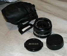 Nikon NIKKOR 28mm 1:2.8 F2.8 Manual Lens Series E - Excellent Condition