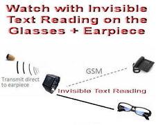 GSM Watch Glasses Earpiece Spy Hidden Iris SIM Covert Bluetooth Exam Test