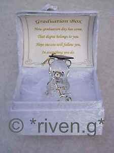 LARGE GRADUATION Bear PREMIUM Gift Box@Glass@Card Verse Scrolls@SCHOLAR keepsake