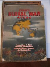 1939 CRAM'S GLOBAL WAR ATLAS - LOADED WITH MAPS - TUB R5