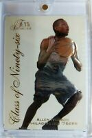1996 96 Flair Showcase Class of Ninety-six Allen Iverson Rookie RC #10, Insert