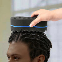 1 Double Side Barber Hair Brush Sponge Locking Afro Curl Twist Dreads Coil Wave