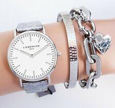 Liebeskind Berlin Damenuhr Armbanduhr LT-0099-LQ Leder Metallic Used Look  neu