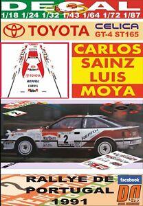 DECAL TOYOTA CELICA CARLOS SAINZ R. PORTUGAL 1991 WINNER (06)