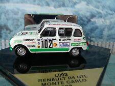 1/43 Vitesse (Portugal)   Renault R4 GTL Monte Carlo 1993