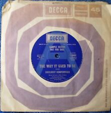 "ENGELBERT HUMPERDINCK-THE WAY IT USED TO BE/A GOOD THING GOING ""RARE PROMO"" 45"
