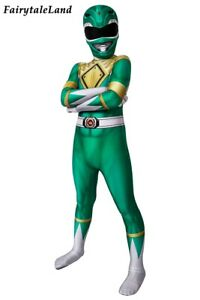 Dino Rangers Cosplay Outfit Green Ranger Costume Kid Uniform with Mask