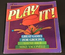 Play It!: Great Games for Church Groups Book Indoor Outdoor Summer Winter FUN!