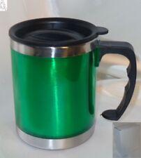 Thermotasse Becher Kaffee 0,45L warm & kalt ISO-Mug rostfrei Edelstah Grün #H