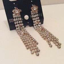 Vintage Style Diamanté Drop fastening fashion earrings
