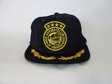 Admiral's Club of Virginia Trucker Hat Gold Leaf Brim Snapback One Size Fits
