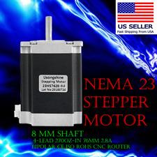 Nema 23 Model 23HS7628-8.0 Stepper Motor 8mm shaft Shipped from USA