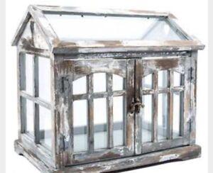 **!!TERRARIUM 1 LG/Metal, Wood,glass* $$64.88.ea weekend sale!!!!