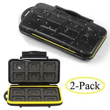 Water Shock Resistant Protector Memory Card Carrying Case Holder 24 Slots 2-Pack