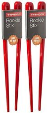 2 x Typhoon Rookie Chopsticks 20cm Easy Use Training Sushi Chinese Food - Red