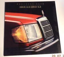 L@@K 1984 Mercedes-Benz 190E 2.3/190D 2.2 26 page Brochure NEW