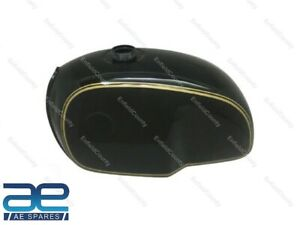 For BMW R100 RT RS R90 R80 R75 Black Golden Pin Line Painted Steel Fuel Tank ECs