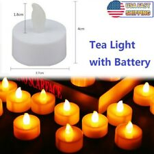 12x Realistic LED Tea Lights Battery Operated Fake Candles Flickering Flameless