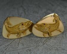 Impressive Heavy TIFFANY & Co 14ct Gold and Ruby Fish Cufflinks d2065
