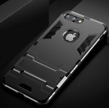 For iPhone 6 S Plus Armor Rubber Phone Hard Case Cover Stand Skin+Tempered Glass
