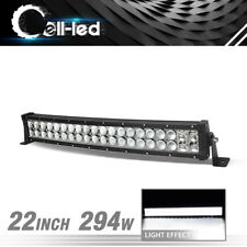 4D Curved 280W 22-24inch LED Light Bar Spot Flood Offroad Jeep SUV 4WD Work Lamp