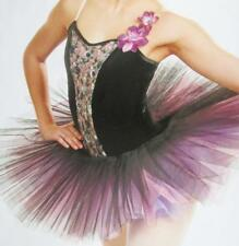 Singing Spring Maiden Saphire Ribbon Long Tutu Curtain Call Costume Dance ASM
