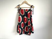 PQ The Label Size S/M Watermelon Print Top Cold Shoulder Relaxed Fit Long Sleeve