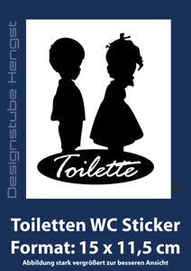 WC Tür Wand Toilette Aufkleber 15 x 11,6 cm Wandtattoo Sticker Aufkleber