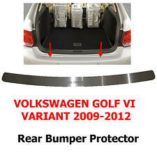 VW Golf 6 Variant 2009-12 Rear Bumper Protector Stainless Steel Scuff Sill Plate