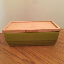 LE CREUSET butter case pair green 200g peacock pallet