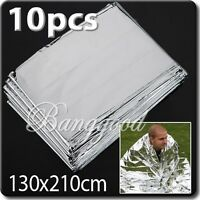 10x Foil Space Thermal Emergency Survival Blanket First Aid Rescue Waterproof