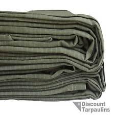 3.5m x 6.0m Heavy Duty Canvas Tarp Tarpaulin Waterproof Green