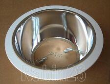 "6"" INCH RECESSED LIGHT SMOOTH CHROME REFLECTOR TRIM BAFFLE R30 WHITE"