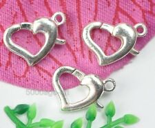 Wholesale 50Pcs Silver plated Heart Lobster Clasps Jewelry Findings MH1004