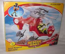 RESCUE HERO QUICK RESPONSE HELICOPTER BILL BLAZE FISHER PRICE PLAY TOY