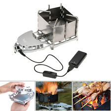 Wood-burning Stove Foldable Portable Firewood Furnace BBQ Barbecue Grill Stoves