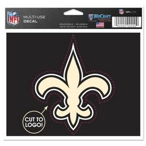 NEW ORLEANS SAINTS MULTI USE DECAL 4.5 X 5.75 NEW BY WINCRAFT FREE SHIP