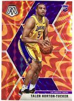 2019-20 Panini Prizm Mosaic Talen Horton Tucker Orange Reactive Rookie Card RC
