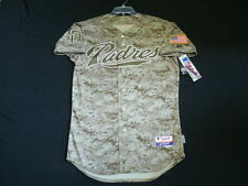 Authentic Majestic 44 LARGE, SAN DIEGO PADRES CAMO COOL BASE On Field Jersey