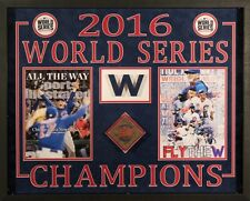 Chicago Cubs 2016 World Series Champions Wriggle Field Game Used Turf Display