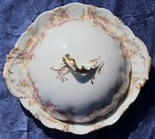 Antique Theodore Haviland Limoges France Butter Dish Dome & Insert Schleiger 145