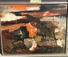 SIGNED SHAPIRO 51 NEW YORK CITY Abstract Expressionist Painting SCHL 28x36""